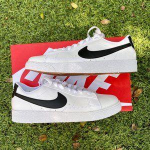 Nike Blazer low white black shoes